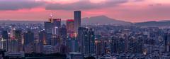 觀音山夕彩寬景 (JIMI_lin) Tags: sunset panorama widescreen 101 taipei 信義區 觀音山 大冒險 寬景 虎山峰