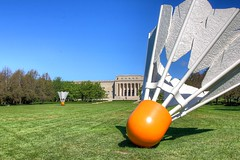 Let's Play (KC Mike D.) Tags: sculpture badminton lawn museum art nelsonatkins gallery grass green blue sky trees