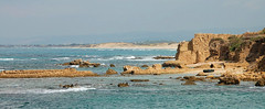 14IS050 Mediterranean Sea (Michael L Coyer) Tags: israel mediterranian mediterraniansea sea seashore shore caesarea caesareamaritine caesareamaritimus caesareamaritimum fishing