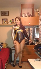 New Leotard <3 (Misses Magpie) Tags: leotard shinytights shinypantyhose wolford