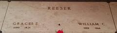 1322 (illinoiscemeteries) Tags: nodatetaken nolocation mthope mausoleum reeser william 1890 1974 1888 1966 cemeteries headstone genealogy gravestone cemetery graces