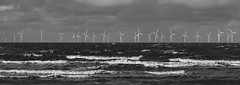 The Power. (PRA Images) Tags: burbobank offshorewindfarm tide sea coast windturbines newbrighton wirral blackandwhite monochrome