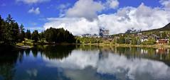 Etang de la Moubra (Diegojack) Tags: panorama paysages automne plandeau tang moubra valais montana reflets