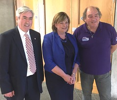 Meeting Fiona Hyslop with East Coast FM