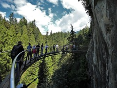 Cliff Walk - Capilano (phil_king) Tags: bridge british canada capilano cliff cliffwalk columbia forest nature park rock suspended suspension trail trees vancouver walk woodland woods