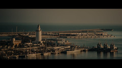 Puerto de Malaga, Malaga, Spain (emrecift) Tags: landscape photography golden hour sunset malaga andalucia spain cinematic 2391 anamorphic sony a7 alpha canon new fd 135mm f28 legacy lens emrecift
