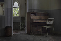Deadpan (andre govia.) Tags: abandoned andregovia decay decayed derelict dead decaying decayedbuildings demo down piano chair urbex urbanexploration ue urbanexplorers urbexdecay church creepy chapel