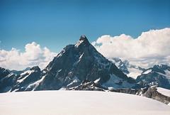 Matterhorn (Eugene Woronyuk) Tags: film analog    nature pentax spotmatic analogue pelicula pelicla 35mm 35 sunlight sun      travel kodak  italy takumar people shadows mountains mountain mount alps