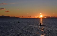 Paddling off into the Skye Sunset (Free.heel) Tags: elgol skye canoeing