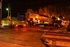 Colisão do R 4425 contra um camião na PN 69,474 - Vale de Santarém (3) (valeriodossantos) Tags: comboio cp ip infraestruturasdeportugal train passageiros ute2240 regional cpregional automotoraelétrica acidente camião zorra retroescavadora pn passagemdenível colisão valedesantarém santarém linhadonorte caminhosdeferro portugal