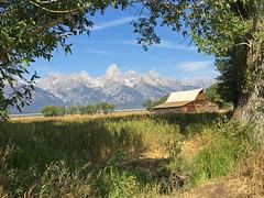 Mormon Barn and Teton Range (bhotchkies) Tags: usa nationalpark teton grandtetons mormon mormonrow wyoming