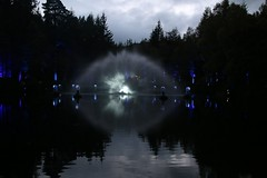 2016 - 14.10.16 Enchanted Forest - Pitlochry (51) (marie137) Tags: enchanted forest pitlochry mobrie137 scotland lights music people water reflection trees shows food fire drink pit patter shapes art abstract night sky tour family walk path bells smoke disco balls unusual whisperer bridge wood colour fun sculpture day amazing spectacular must see landscape faskally shimmer town