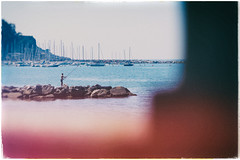 fishing in lerici (t.basel) Tags: fishing fish ocean sea meer mittelmeer italy italien italia lerici harbor hafen blue colors film look analog nik sony a580 cosina 100mm macro stilllife photography streetphotography tuscany toskana