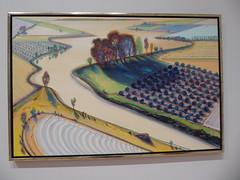 Wayne Thiebaud - Flatland River (c_nilsen) Tags: sanfrancisco california digital digitalphoto sanfranciscomuseumofmodernart museum art painting waynethiebaud