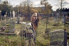 film (La fille renne) Tags: film analog 35mm lafillerenne canonae1program 50mmf18 kodak kodakultramax400 expired expiredfilm mx doubleexposure multipleexposure portrait woman jusdefraises cemetery halloween