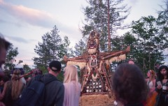 The offering (Stephanie Overton) Tags: bulgaria festival meadows mountains 2016 mountain tree green outside adventure view beautiful scenery hippy mumma wilderness party music 35mm pentax p30 wood sculpture burn fire art skill