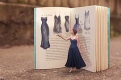 167/365 (Jessie Rose Photography) Tags: bluedress dresses 365 book illustration tinypeople theborrowers gown