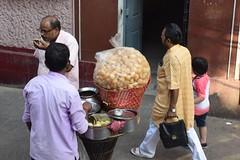 Pani puri seller (victoriaei) Tags: kolkata october streetscenes food pani puri streetfood travel d5300 indianstreetphotography streetphotography asia nikon