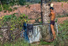 Man Bathing, Madhya Pradesh, India (bfryxell) Tags: india madhyapradesh shower bathing