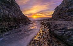 Sunset Crack (Darkness of Light) Tags: davenport crack beach pacific ocean coast highway pch santa cruz sunset flare