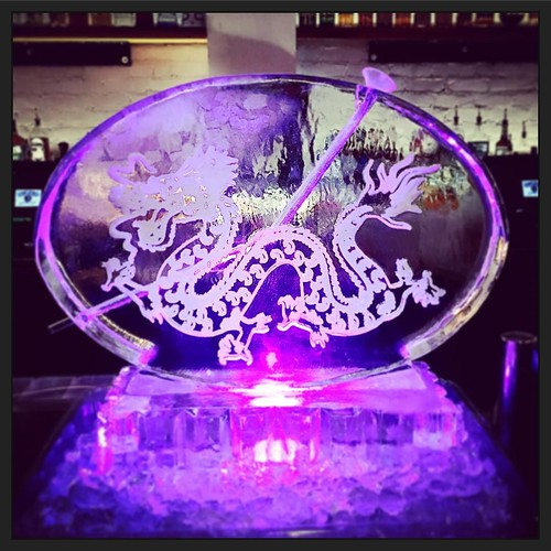 Happy 40th #birthday for the #yearofthedragon #40thbash with @clinkevents #fullspectrumice #iceluge #thinkoutsidetheblocks #brrriliant - Full Spectrum Ice Sculpture