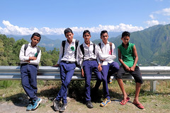A Road Journey through Garhwal (pallab seth) Tags: landscape himalayas nature blue cloud sky outdoor autumn colour khirshu uttarakhand india garhwal people candid road journey students education kids