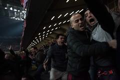 San Siro's war (marziotoniolo1) Tags: nikond810 d810 nikon italia italy gol ultras ultra fans soccer stadium war supporters goal locatelli acmilan juventus juve milan milanjuventus milano sansiro