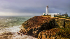 Rough (Einir Wyn) Tags: lighthouse anglesey light rockface isolate island beautiful colour color countrylife coast ocean seascape sea outdoor weather winter water wales northwales sky