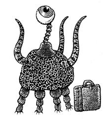 Traveler (Don Moyer) Tags: creature ink drawing moleskine notebook moyer donmoyer brushpen travel
