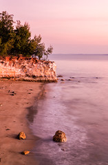 Pink East Point Evening (Kristin Repsher) Tags: australia beach d750 darwin dryseason eastpoint longexposure nikon northernterritory nt sunset topend waves