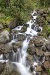Waterfall [FR] (ta92310) Tags: travel hdr summer 2016 europe france chamonix 74 hautesavoie neige snow montblanc alpes alps cascade waterfall dard nd8 canon 6d water eau cloud longexposure