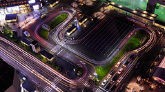 Scalextric (djryan78) Tags: night lighttrail winter dslr outdoor canon canon6d 6d lighttrails taxi travel hotel kyotostation kyotoprefecture kyototower autumn kyoto longexposure japan evening