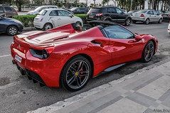 Ferrari 488 Spider (Anas.Bou) Tags: auto amg alcanatara cars carspotting fast car exotics evo eyes roadster rs red turbo gt star italia gto gt2 by luxury supercars luxe super supersports nikon voitures kit morocco moroccan look power convertible performante spotting spotted sport speed shoot ferrari f458