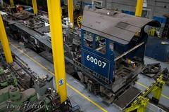 'MAJOR OVERHALL' - 'SIR NIGEL GRESELY 60007 IN THE WORKSHOP' - 'NRM YORK' - NOVEMBER 2016 (tonyfletcher) Tags: tony fletchernrmyorksteam locomotivenational railway museum york60007sir nigel greselya4steam locomotive