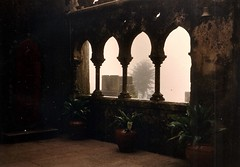 Portugal (4) (The Spirit of the World) Tags: palace penapalace sintra portugal europe historical royalty foggy fof architecture old sightstoseeinportugal landmark 1986 atmosphere mood analogphotography film print nobility