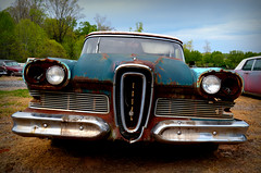 Never Before a Car Like It (Todd Evans) Tags: nikon d7100 nikkor1855ii edsel auto automobile stationwagon rust rusty chrome
