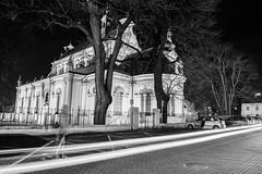 Zamo 4 (RafalGorski) Tags: zamosc katedra lights tripod nikon black white city urban renesanse lubleskie night statyw nikkor people duch ghost walking