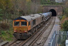 66730 at Ore, 23/11/16 (Craig Stretten's Photography) Tags: ore 66730 66726 gbrf gbrailfreight 3w01 rhtt hastings