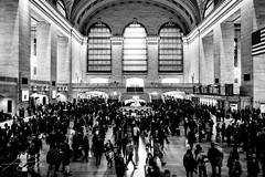 Grand Central (DChoi95) Tags: train station grand central new york city thanksgiving traveling black white people walking walk bricks stations tickets ticket urban