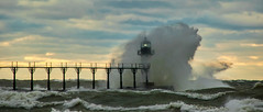 St Joseph (Kevin Povenz Thanks for the 2,800,000 views) Tags: 2016 november kevinpovenz westmichigan michigan lakemichigan water windy cold chilly splash waves highwinds bigwave stjoseph storm stormy stormyweather canon7dmarkii weather clouds afternoon catwalk