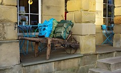 Keep the home fires burning! (Blue sky and countryside) Tags: logsforsale winter hartington village store peak district national park derbyshire england pentax oldcart
