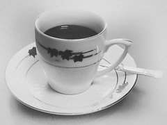 Cup of coffee (max tuguese) Tags: coffee black white blackwhite bw monochrome cup saucer drink canon maxtuguese stilllife monocromo caff bianco negro