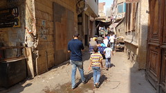 Narrow alleys near Al - Hussein Mosque (Rckr88) Tags: narrow alleys near al hussein mosque cairo egypt africa travel alley alhusseinmosque city cities