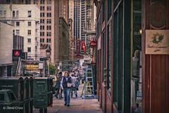 Bush Street (buffdawgus) Tags: bushstreet california canon5dmarkiii canonef24105mmf4lisusm downtown leftcoast lightoom5 sanfrancisco skyscraper streetscene streetshot topazsw urbanlandscape urbanscene westcoast