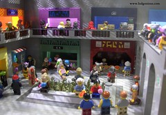 Collybus Mall (Ludgonious) Tags: lego mall store food court yum moc bricks toy pretzel pizza mail news eat eatery minifig space scifi