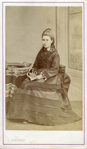 CDV Portrait of a young woman - Switzerland - c.1870