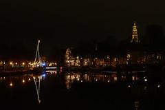 Groningen by night (jehazet) Tags: groningen stadsgezicht cityscape deraakerk jehazet zuiderhaven