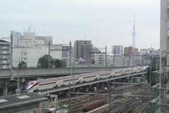 tokyo6140 (tanayan) Tags: urban town cityscape tokyo japan nikon j1   tabata  jr train railway shinkansen express limited yamagata e3
