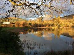 Knockdow house and lake (goforchris) Tags: winter ardyne lowsun sky knockdow cowal argyll scotland