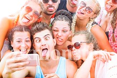 Funny faces friends taking selfie on sunny vacation day - Group of teenagers having fun with mobile photo camera outdoor - Concept of young students summer party (zkmonster) Tags: best break caucasian cellphone cheerful college crazy expression faces facial forever friends friendship fun funny generation girlfriends girls group guys happiness happy hipster holiday instagram joyful men moment party people phone photo self selfie smartphone smiling spring students summer technology teenagers together tongue tourists travel university vacation women young youth italy